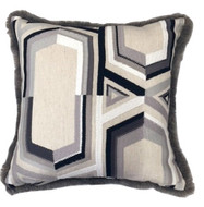 Geometric Faux Fur Pillow