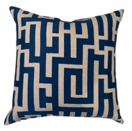 Navy/Cream Geometric Pillow
