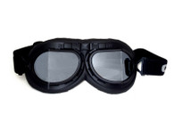 Aviator Goggle - Black/Black - Mirrored Angled Lens