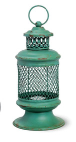 Green Iron Basket Lantern