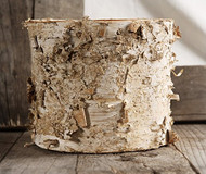 "7"" Birch Round Pot with Liner"