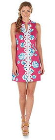 Womans Mia Pink Embroidered Dress (Medium)