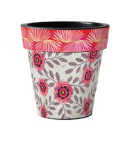 "Pink Blossoms 12"" Art Pot Planter"