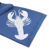 Lobster Table Runner - Dark Blue