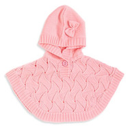 Baby Girls Poncho Sweater (0-6 months, Pink)