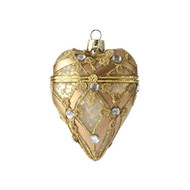 "4"" Heart Box Ornament"