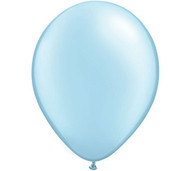 "11"" Pearl Blue Latex Balloon - Set of 6"