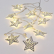 Filigree Star Garland Lights