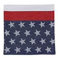 DII Flag Stripe Jacquard Cloth Napkins - Set of 4