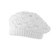 Baby Girls Crochet White Tam Hat