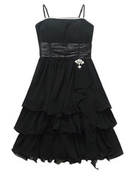 Womans Black Evening Dress Y9908S - Large