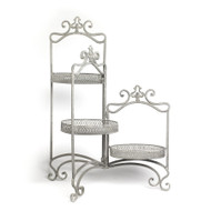 33 Inch Three Arm Metal Plant Stand
