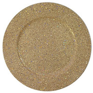 Gold Glitter Plate Chargers - Set of 4