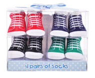 "Baby Essentials ""Classic Sneaks"" Socks Gift Set (Size 0-6M)"