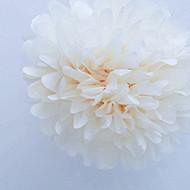 """Cream 6"""" Party Tissue Pom Pom, Set of 8"""