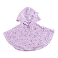 Baby Girls Poncho Sweater (0-6 months, Purple)