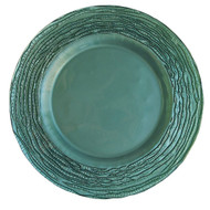Sea Green Glass Plate Chargers - Set of 4