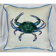 Male Blue Crab Beige Large Pillow