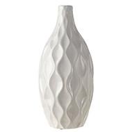 """13"""" White Vase"""