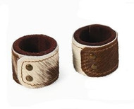 Cowhide Napkin Ring - Set of 4