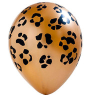 "11"" Leopard Print Latex Balloons - Pkg of 6"