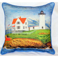 Nubble Lighthouse Large Pillow
