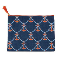 Mud Pie Anchors Away Carry All Case - Navy