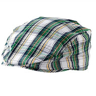 Baby Boys Navy/Tan/Green Plaid Golfers Hat