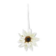 20 Inch White Sunflower
