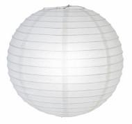 """White Glitter Paper Lantern - 12"""" - Set of 2"""
