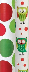 Christmas Owls & Dots Gift Wrap Rolls