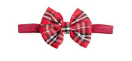 Baby Girls Red and Black Plaid Headband