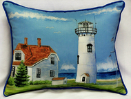 Chatham MA Lighthouse Large Pillow