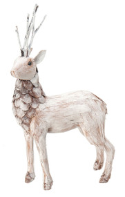 Boston International Natural Standing Pine Deer Holiday Decoration, Small
