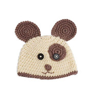 Unisex Baby Hand Crocheted Doggie Hat & Bootie Set