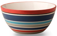 Boston International Ceramic Salad Bowl, Patriotic Picnic