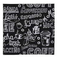 DII Coffee Chalkboard Cloth Napkins - Set of 4