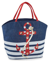 Mud Pie Cabana Anchor Tote