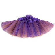 Purple & Orange Tutu with Flower