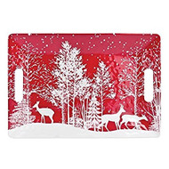 Michel Design Works Snowy Night Medium Rectangular Tray