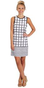 Rosie White & Black Shift Dress (Small)