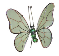 23 Inch Butterfly Green Glow in the Dark Garden Stake