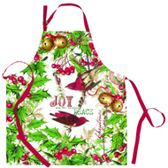 Michel Design Works Cotton Chef Apron, Mistletoe and Holly