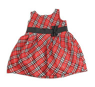 Baby Girls Red/Black Plaid Dress (12-18 months)