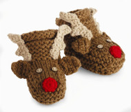 Mud Pie Unisex Baby Reindeer Booties