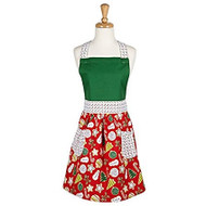 Christmas Cookie Floral Apron