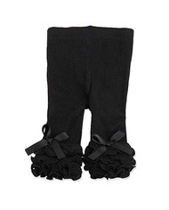 Baby Girls Black Ruffle Legging (12-18 months)