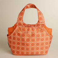 Orange Print Lunch Bag