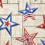 Patriotic Barn Luncheon Paper Napkins