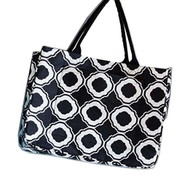 Mud Pie Day Tripper Tote Black Honey Comb